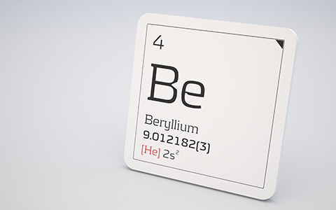 Be (Beryllium ) Periodic Table of Elements Information Square
